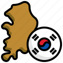 south, korea, flag, country, nation, flags, location