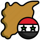 syria, flag, nation, country, world, map, location