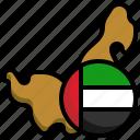 uae, flag, united, arab, emirates, variant, flags