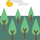 countryside, ecosystem, environment, forest, trees, woods icon