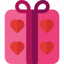 couple, gift, heart, love, prize, valentine, wedding icon