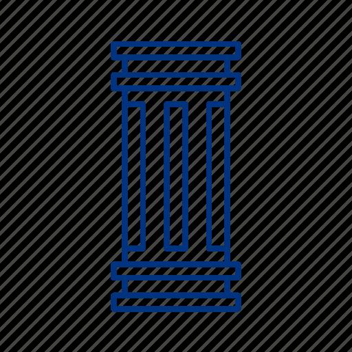 column, court, greece, justice icon