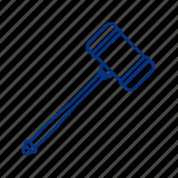 hammer, justice, trial icon