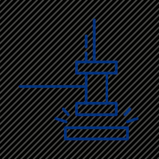 hammer, judge, justice, trial icon