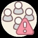 coronavirus, forbidden, keep distance, no contact icon