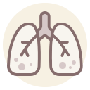coronavirus, cough, lungs, pneumonia icon