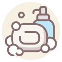 coronavirus, hands, soap, wash icon
