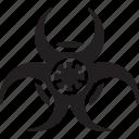 bio hazard, biological, coronavirus, covid19, warning icon