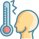 checking, fever, high, temperature, thermometer icon