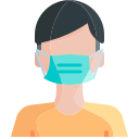 face mask, human, hygiene, mask, person, wear icon