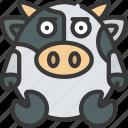 straight, faced, emote, emoticon, animal, cute icon