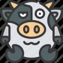 woozy, emote, emoticon, animal, cute, drunk icon