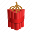 bomb, cable, destroy, dynamite, fuse, red
