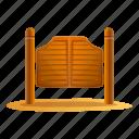 doors, frame, house, retro, saloon