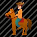 cowboy, horse, person, sport, star