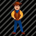 cowboy, man, money, person, serious, star