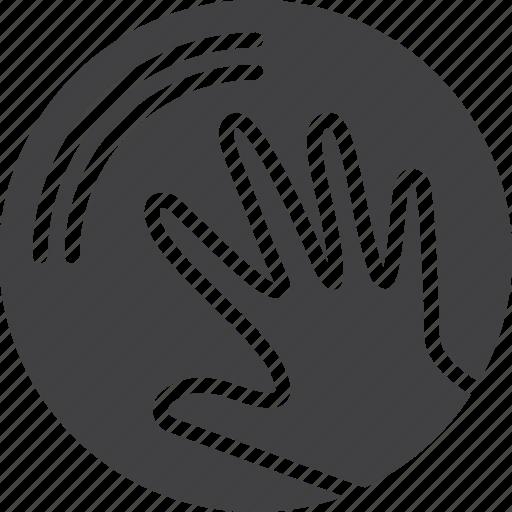 circle, craft, hand, handmade icon