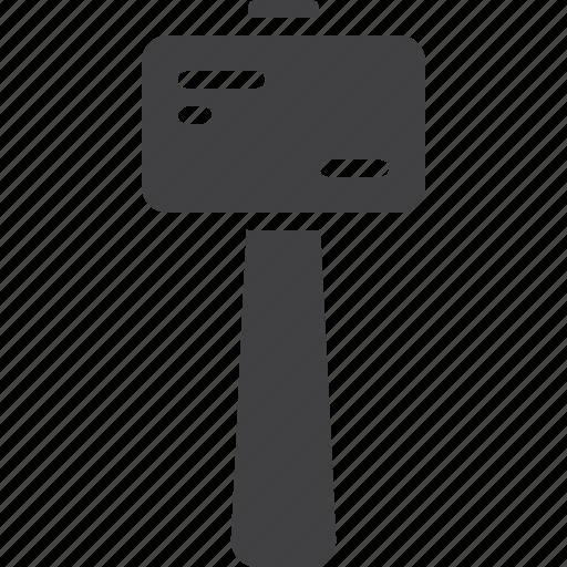 craft, hammer, mallet, wooden icon