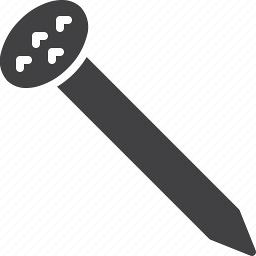 carpentry, hobnail, nail, pin, spike icon