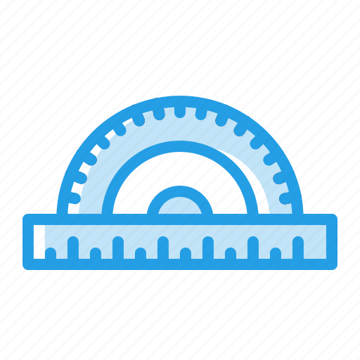 crafting, degree, instrument, measuring, protractor, ruler, scale icon
