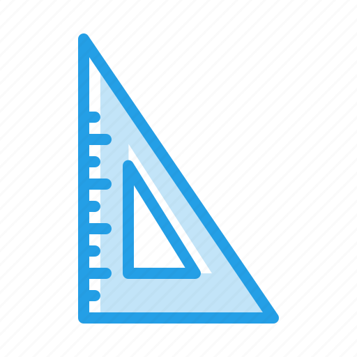degree, half, measure, scale, stationary, tool, triangle icon