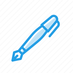 crafting, fountain, ink, pen, signature, stationary, write icon