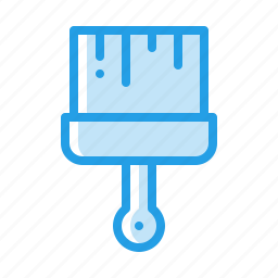 brush, color, crafting, paint, tool icon