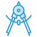 circle, compass, degree, instrument, rotator, stationary, tool icon