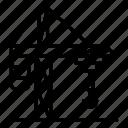 building, business, city, crane, house, logo, silhouette