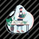 creative hobby, man, florist, flower, arrangement