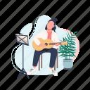 creative hobby, music, guitarist, player, musician