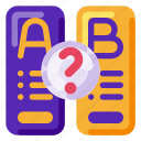 ab test, art, creative, research, science, user icon