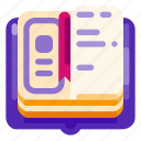 art, book, creative, design, idea, science, sketch icon