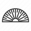 angle, protractor, ruler, transparent icon