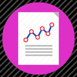 analysis, analytical report, analytics, data report, growth icon