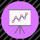analytical, analytics, growth, line chart, presentation icon