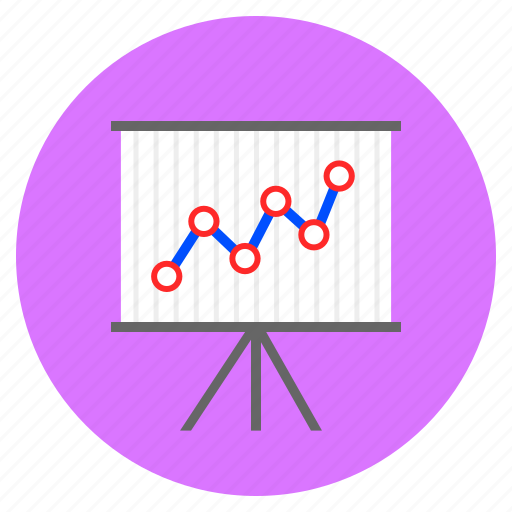 analytical, analytics, growth, line chart, presentation icon