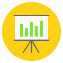 analytical, analytics, bar chart, data analysis, presentation icon