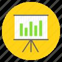 analytical, analytics, bar chart, data analysis, presentation icon