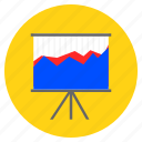 analytical, analytics, comparison graph, graph, presentation icon