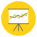 analytics, data analytics, graph, line chart, presentation icon