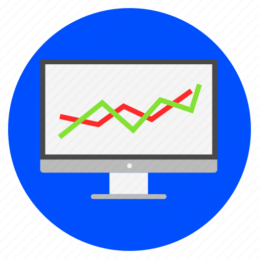 analytical, analytics, graph, growth, line chart, presentation icon