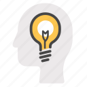 concept, creative, idea, light bulb, think, thinking icon
