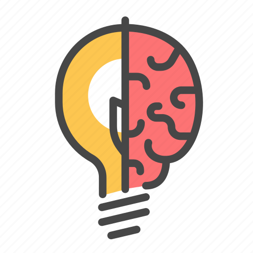 brain, concept, creative, idea, light bulb, think, thinking icon