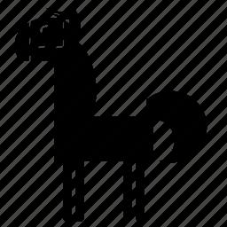 animal, horse, mare, pony, power, speed, stud icon
