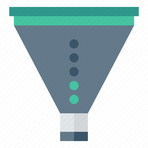 analysis, business, concept, creative, data, design, development, filter, filtering, funnel, idea, knowledge, perspective, process, product, service icon