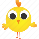 animal, baby, chicken, creative, cute, hatchery, yellow icon