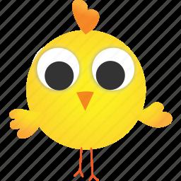 animal, baby, chicken, creative, cute, hatchery, yellow icon