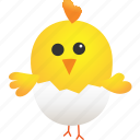 animal, broken, chicken, egg, farming, hatchery, idea icon