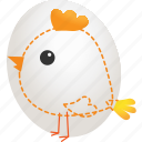 chicken, creative, drawing, egg, hatchery, idea, sketch icon